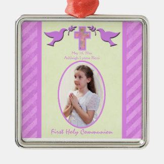 Girl's Holy Communion Photo Ornament Keepsake