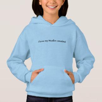 Girls' Hoodie -- love my Muslim family