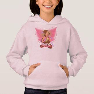 Girls' Hoodie. Pink. With Flora Winx