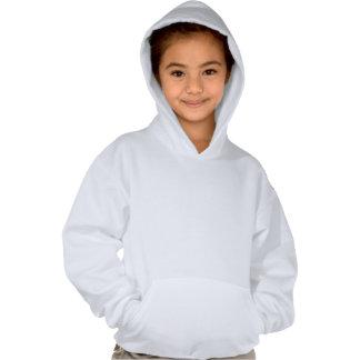 Girls Hoodie Sweatshirt with Yellow Cat Design