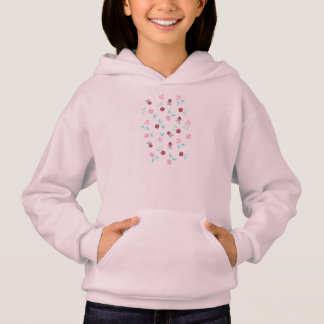 Girl's hoodie with watercolor clover flowers