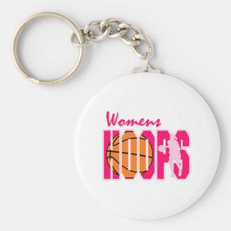 Girls Hoops Basic Round Button Keychain