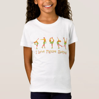 GIRLS - I love figure skating, melon T-Shirt