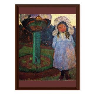 Girls In The Garden Next Glass Ball (Elsbeth) \ Postcard