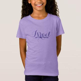 Girls Israel Top-Let God Prevail T-Shirt