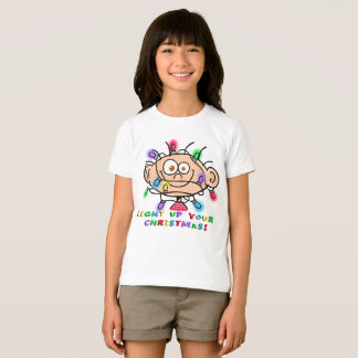 "Girl's Jimmy ""Light Up Your Christmas"" T shirt"