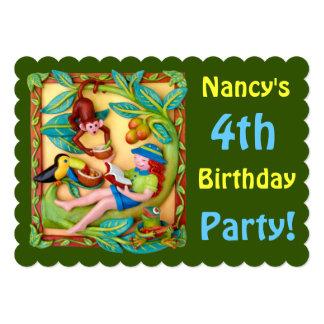Girl's Jingle Safari Party Card