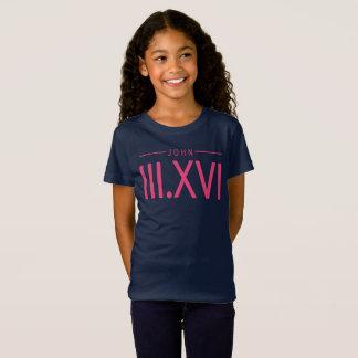 Girl's John 3:16 Shirt