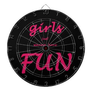 girls just wanna have fun dartboard