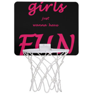 girls just wanna have fun mini basketball hoop
