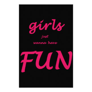 girls just wanna have fun stationery