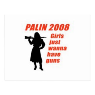 Girls just wanna have guns postcard