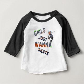Girls just wanna skate baby T-Shirt