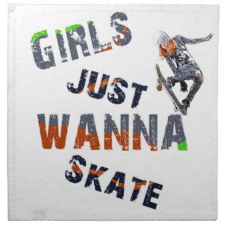 Girls just wanna skate napkin