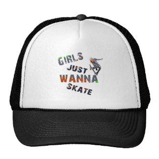 Girls just wanna skate trucker hat