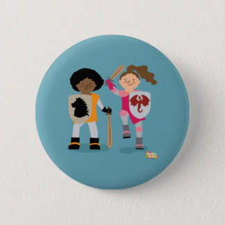 Girls Knight out 2 Inch Round Button