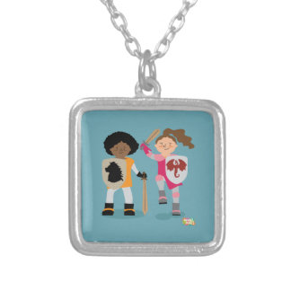 Girls Knight out Silver Plated Necklace