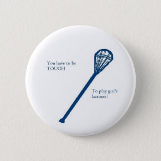 Girls' lacrosse 2 inch round button
