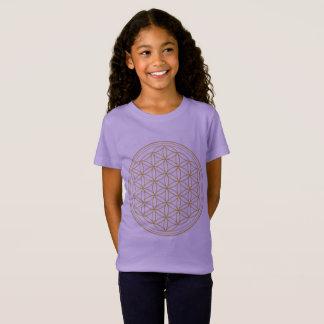 Girls Lavender Flower Of Life T-Shirt