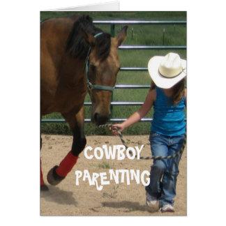 Girls & Leadership - Cowboy Parenting Card