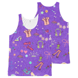 Girls Life lilac All-Over-Print Tank Top