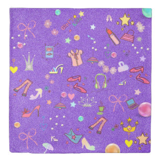 Girls Life lilac Duvet Cover
