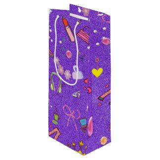 Girls Life lilac Wine Gift Bag