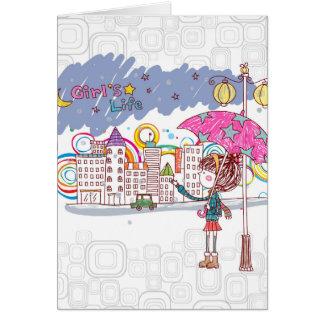 Girl's Life: Rainy Day Card