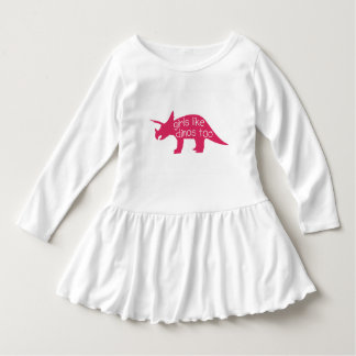 Girls like dinos too - toddler dress