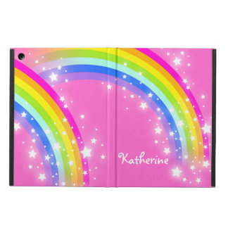 Girls long name rainbow pink ipad air powis case case for iPad air