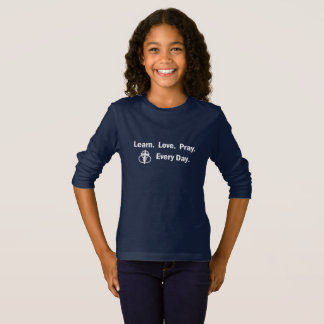 Girl's Long-sleeve T-shirt: Learn Love Pray T-Shirt