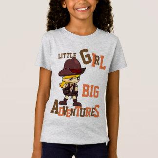 GIRLS love ADVENTURES Add name Back Girl Power T-Shirt