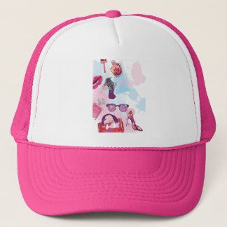 Girls Love Makeup & High Heels Trucker Hat