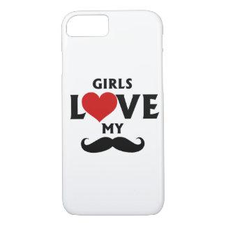 Girls Love My Mustache iPhone 7 Case