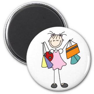 Girls Love Shopping Magnet