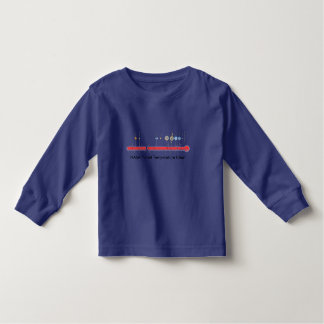 Girls LS T / NASA Planet Temperature Chart Toddler T-shirt