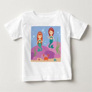 Girls mermaids sea ocean marine life theme t-shirt