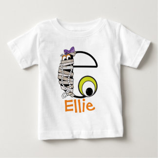 Girls Monster Shirt w Mummy Monogram Initial e