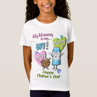 Girls Mothers Day Shirt My mom is my BFF