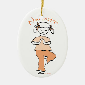 Girls Namaste Yoga Ornament