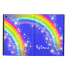 Girls name rainbow pink blue ipad air powis case