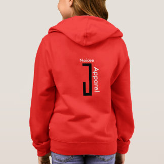 girls NeiceeJ Apparel red sweat jacket