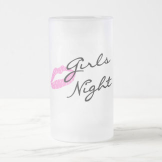 Girls Night Frosted Glass Beer Mug