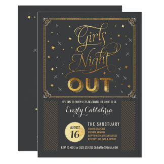 Girls Night Out Bachelor Party Invitation
