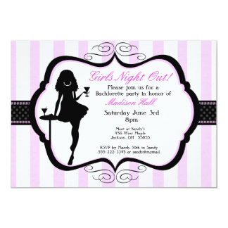 "Girls Night Out Bachelorette Party Invitation 5"" X 7"" Invitation Card"