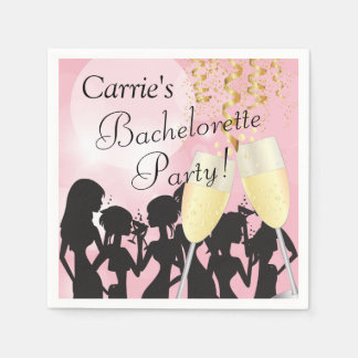 Girls Night Out Bachelorette Party Paper Napkin