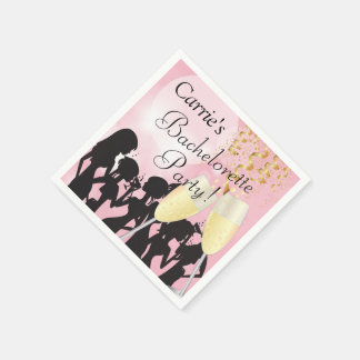 Girls Night Out Bachelorette Party - Pretty Pink Napkin