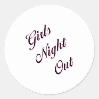 Girls Night Out Classic Round Sticker