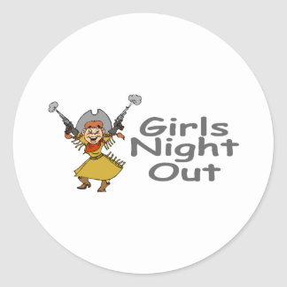 Girls Night Out (Cowgirl) Classic Round Sticker