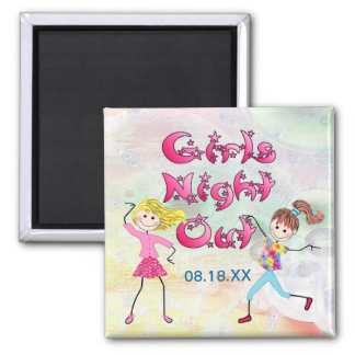 Girl's Night Out - Customize Refrigerator Magnet